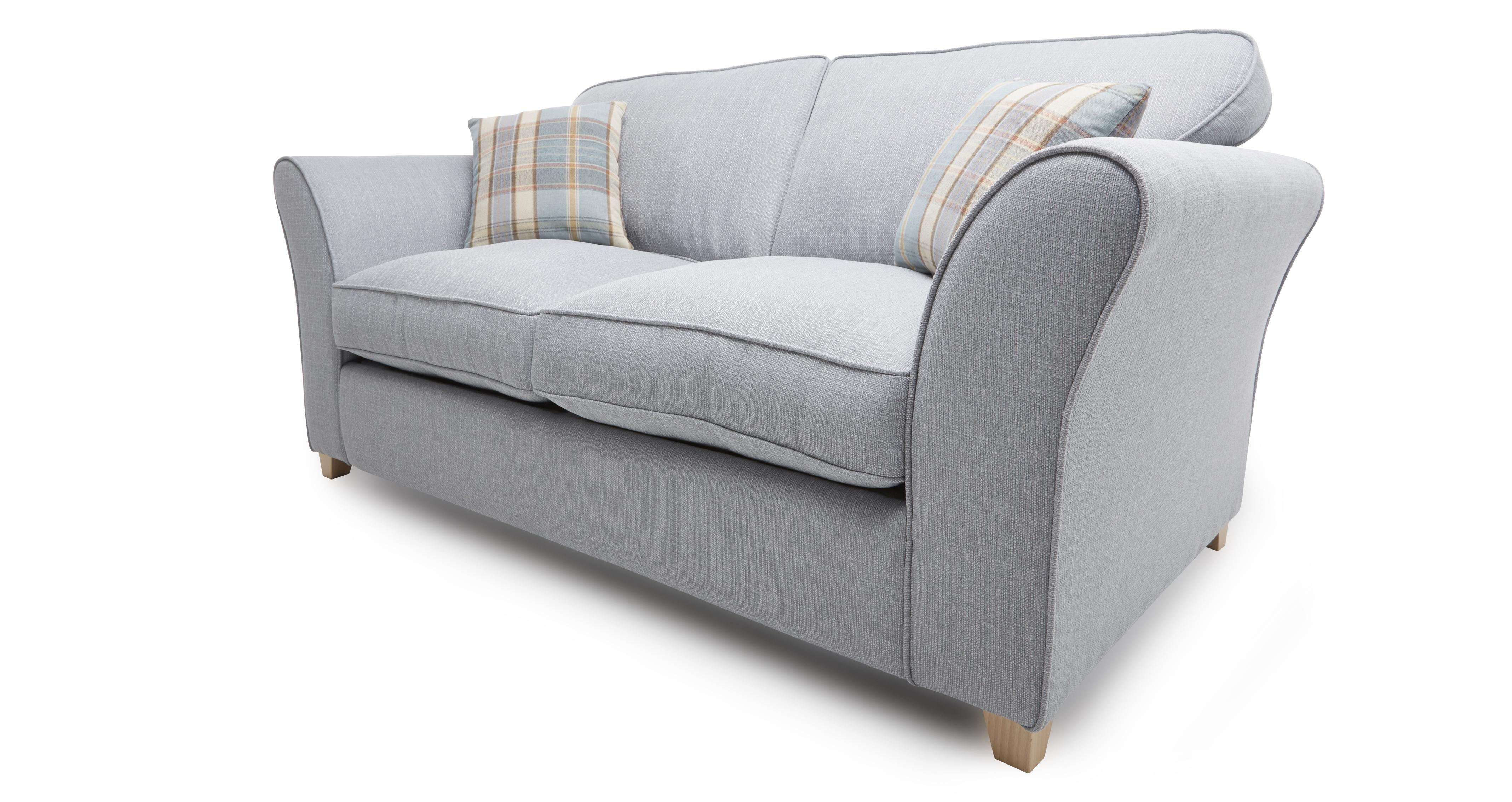 Dfs Brixham Blue Fabric 2 Seater Sofa Bed Blue Pattern