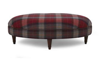 Check Oval Footstool