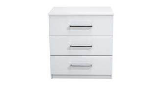 Buzz 3 Drawer Bedside Table