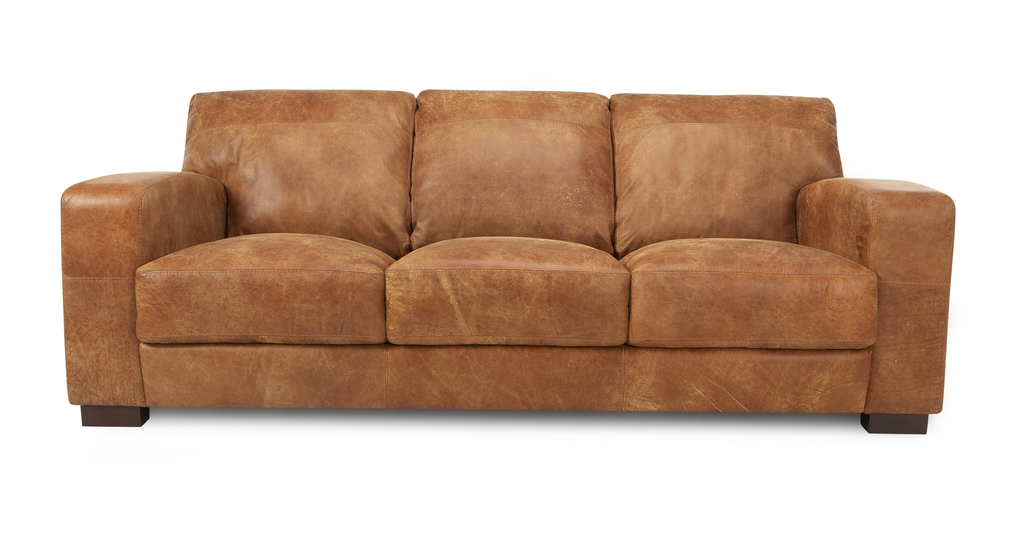 dfs caesar tan brown 100 real leather natural aniline 3
