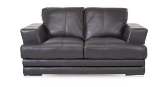 Calvino 2 Seater Leather and Leather Look Sofa