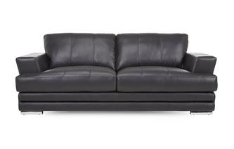 3 Seater Leather and Leather Look Sofa Le Mans