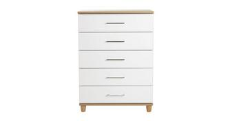 Carbis 5 Drawer Wide Chest