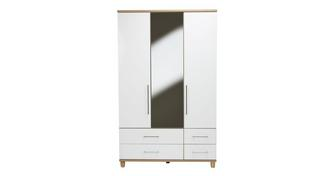 Carbis 3 Door Mirror Robe with Drawers