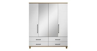 Carbis 4 Door Mirror Robe with Drawers