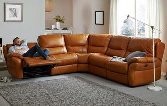 Carmello Option C 2 Corner 2 Electric Double Recliner Sofa Palatial