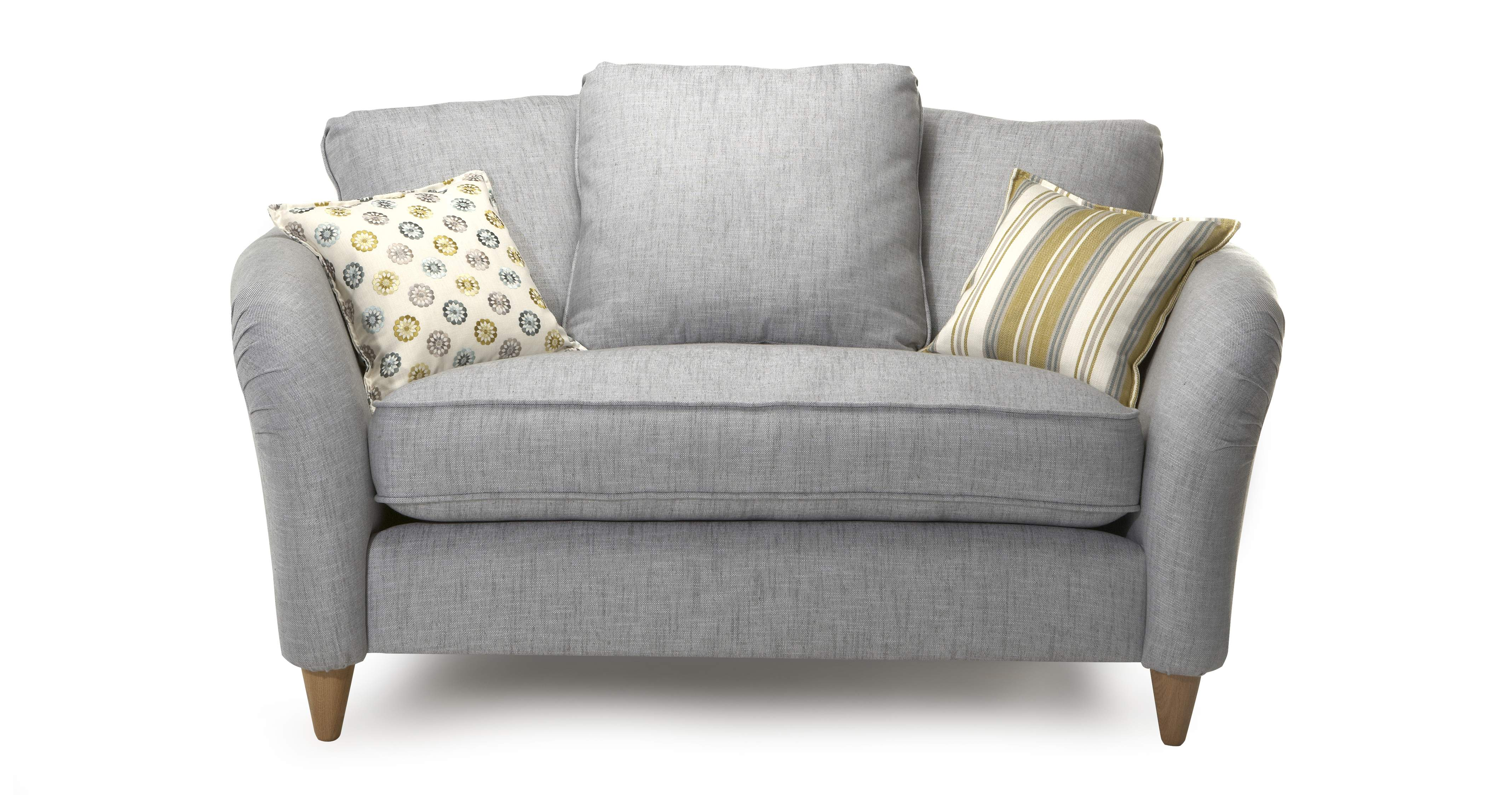 Dfs Casa Mila Set Silver Cuddler Sofa Chair Oval