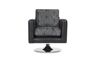 Pattern Swivel Chair Cassius