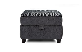 Pattern Top Storage Footstool Cassius