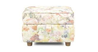 Catherine Floral Storage Footstool