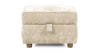 Catherine Velvet Storage Footstool