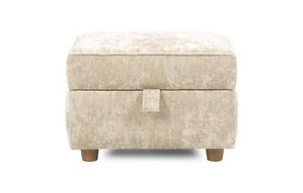 Velvet Storage Footstool Catherine