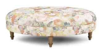 Catherine Floral Oval Footstool