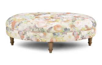 Floral Oval Footstool Catherine