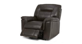 Cato Leather and Leather Look Electric Recliner Chair