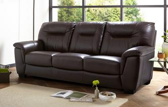 Cato Leather and Leather Look 3 Seater Sofa Premium