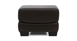 Cato Leather and Leather Look Storage Footstool