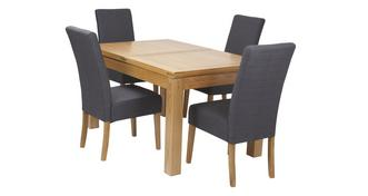Cavendish Large Extending Table & Set of 4 Tunis Light Leg Chairs