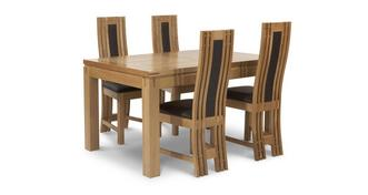 Cavendish Small Extending Table & Set of 4 Chairs