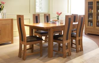 Cavendish Small Extending Table & Set of 4 Chairs American Oak