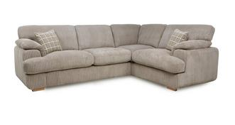 Celine Left Arm Facing 2 Seater Formal Back Corner Sofa