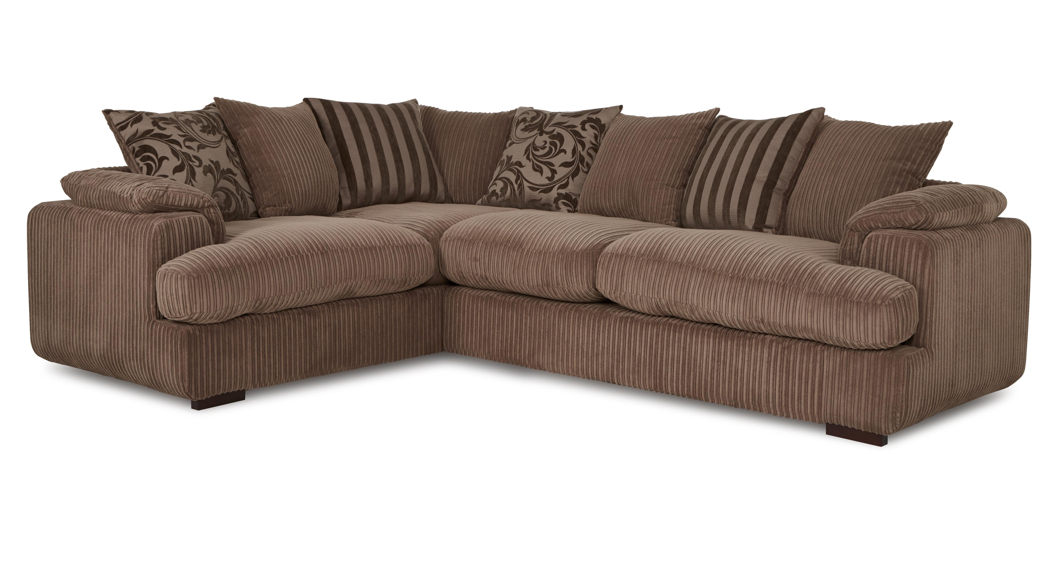 Celine Right Arm Facing 2 Seater Pillow Back Corner Sofa DFS