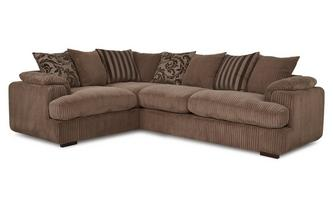 Right Arm Facing 2 Seater Pillow Back Corner Sofa Celine