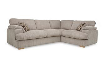 Left Arm Facing 2 Seater Formal Back Deluxe Corner Sofa Bed Celine