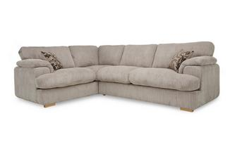Right Arm Facing 2 Seater Formal Back Deluxe Corner Sofa Bed Celine