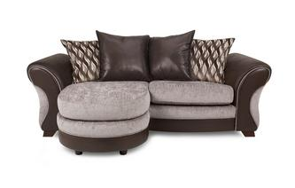 3 Seater Pillow Back Lounger