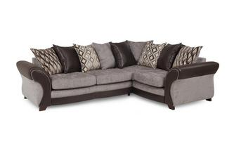 Left Hand Facing 3 Seater Pillow Back Corner Sofa Chance