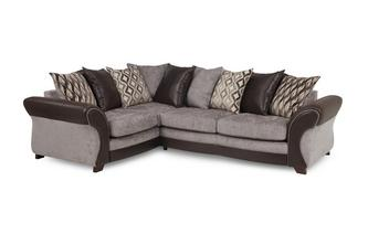 Right Hand Facing 3 Seater Pillow Back Corner Sofa Chance