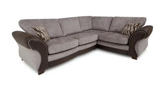 Chance Left Hand Facing 3 Seater Formal Back Deluxe Corner Sofa Bed