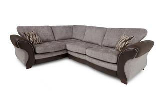 Right Hand Facing 3 Seater Formal Back Deluxe Corner Sofa Bed Chance