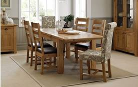 Chateaux Small Extending Table and Set of 4 Ladder Back Chairs Chateaux