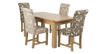 Chateaux Large Extending Table and Set of 4 Chicago Floral Upholstered Chairs