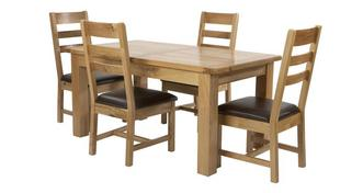 Chateaux Large Extending Table and Set of 4 Ladder Back Chairs