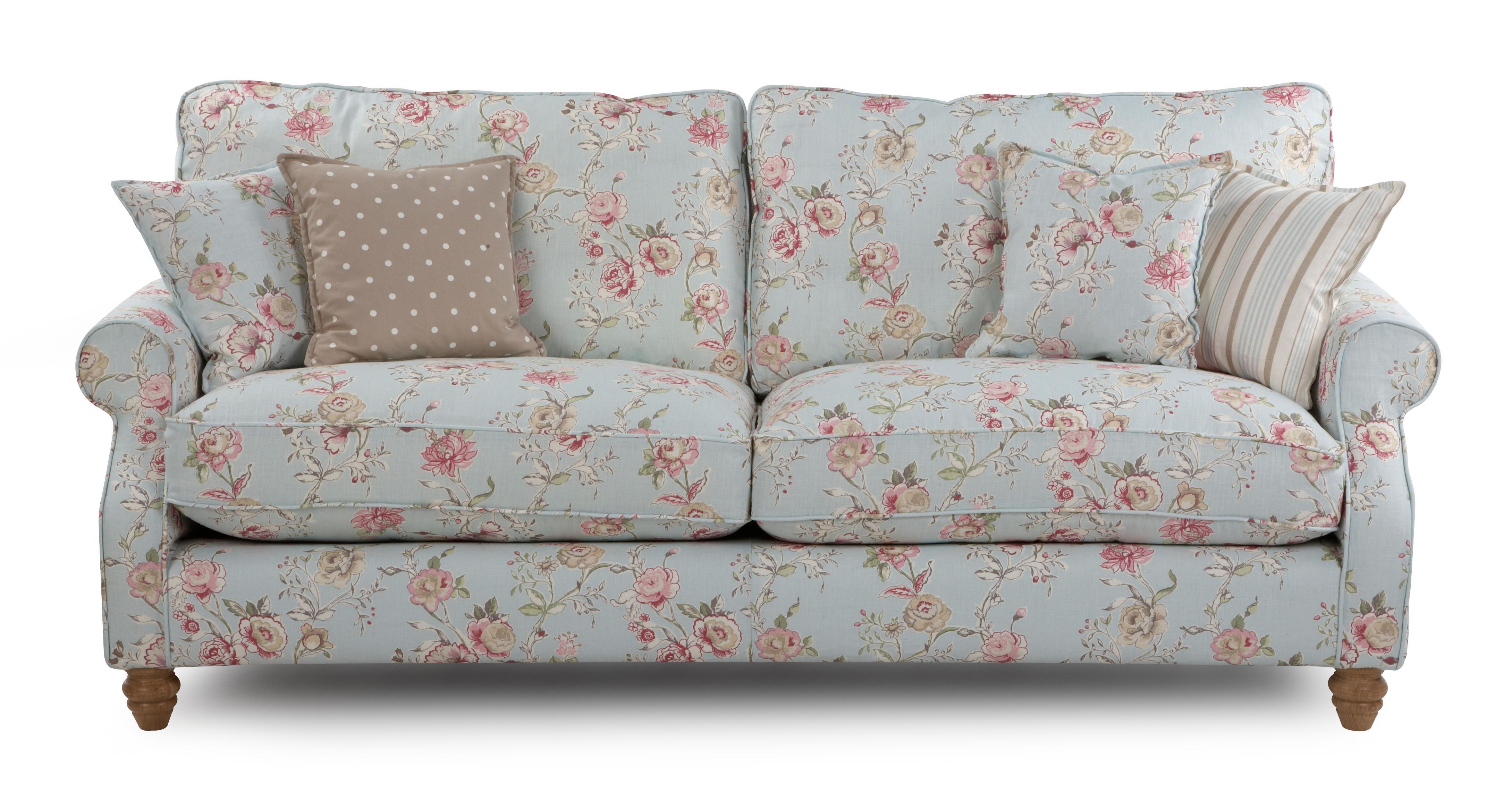 Dfs Purple Flower Sofa