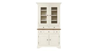 Clermont Small 3 Drawer Sideboard with Glass Hutch