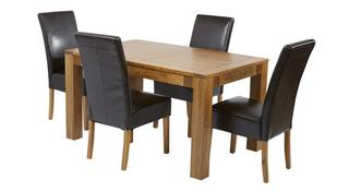 Colorado Small Extending Dining Table & Set of 4 Ariana Light Leg Chairs