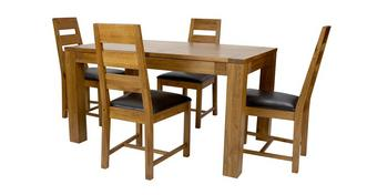 Colorado Small Extending Dining Table & Set of 4 Ladderback Chairs