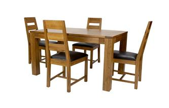 Small Extending Dining Table & Set of 4 Ladderback Chairs Colorado Chair