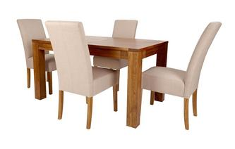 Small Extending Dining Table & Set of 4 Tunis Light Leg Chairs Tunis Chair