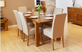Colorado and Tunis Small Extending Dining Table & Set of 4 Tunis Light Leg Chairs Tunis Chair