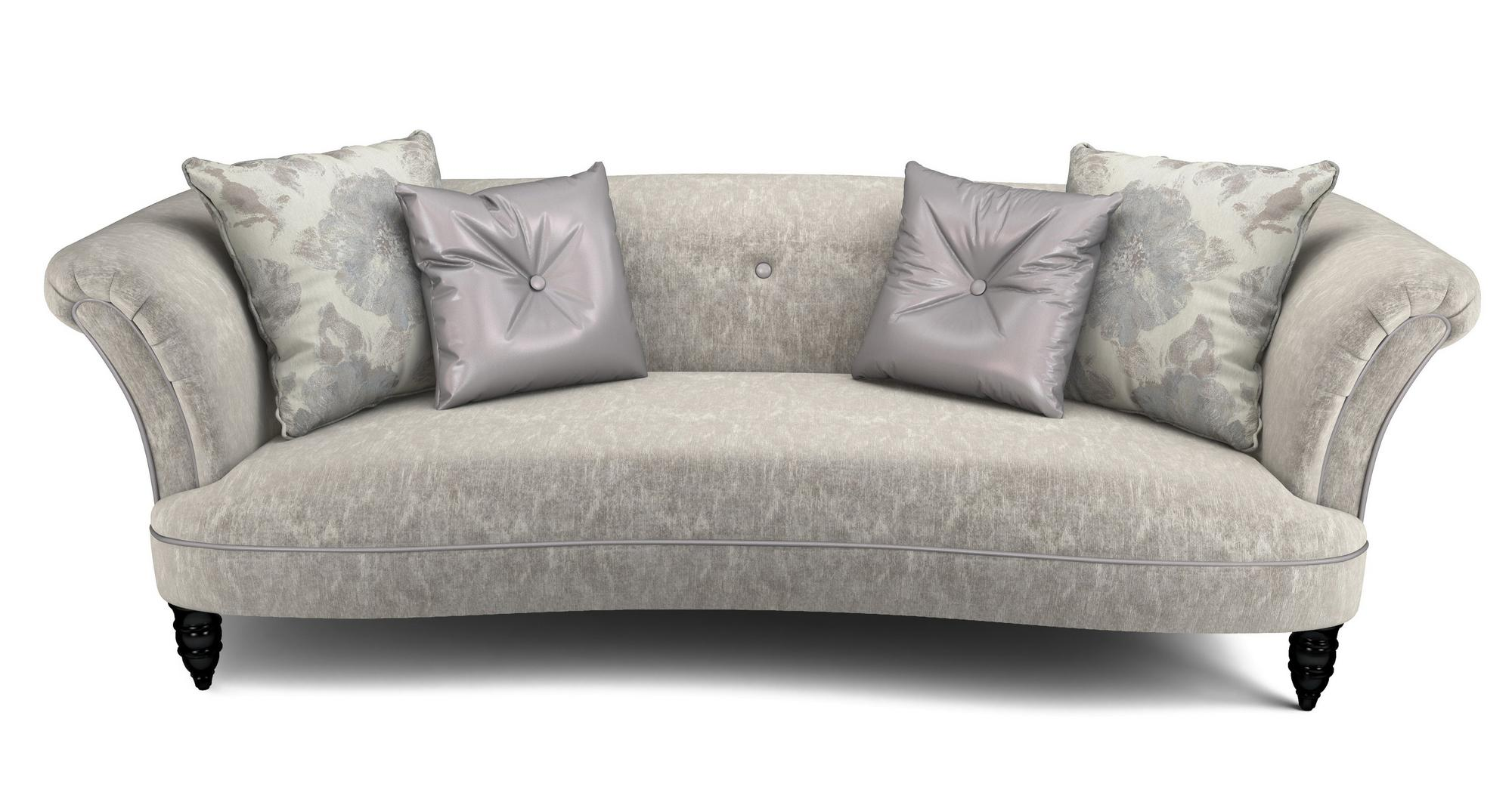 Dfs Concerto Fabric 4 Seater Sofa Cuddler Oval Footstool 58119 Ebay