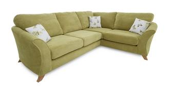 Corinne Left Hand Facing 3 Seater Formal Back Corner Sofa