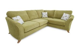 Left Hand Facing 3 Seater Formal Back Corner Sofa Corinne
