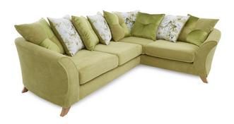 Corinne Left Hand Facing 3 Seater Pillow Back Corner Sofa