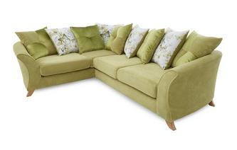Right Hand Facing 3 Seater Pillow Back Corner Sofa Corinne