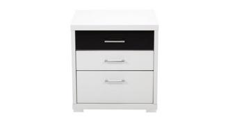 Cosmic 3 Drawer Bedside 1 Glazed Drawer